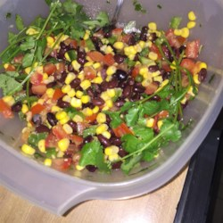 Summer Bean Salsa Recipe - This light, tasty, and flavorful treat works as a dip or can stand on its own as a salad.