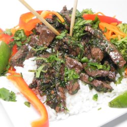Thai Beef with Garlic and Black Pepper Recipe - This recipe for beef marinated in fish sauce and garlic delivers Thai-style beef slices perfect for serving simply with rice, tomatoes, and cucumber.
