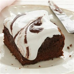 Mississippi Mud Brownies Recipe - By adding a layer of marshmallow cream to these Duncan Hines Chocolate Decadence Brownies, you create a layer of heaven. Swirl in milk chocolate frosting and you deserve a halo for these Mississippi Mud Brownies!