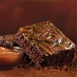 Salted Caramel Brownies Recipe - Rich and fudgy, this Duncan Hines brownie mix comes with a packet of decadent salted caramel to satisfy any sweet and salty craving.