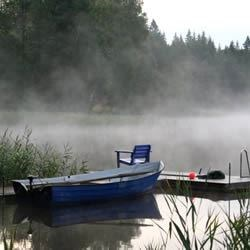 The dock in the morning mist
