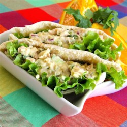 Tuna Salad with a Kick Recipe - Tuna salad gets a kick with the addition of mustard, relish, and cilantro.