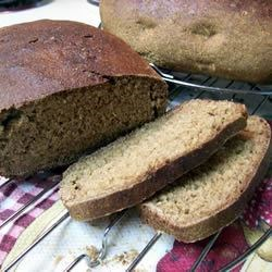 Bread of Life Recipe - This is a wholesome loaf of whole wheat bread with no added fat, flavored with a liberal amount of anise seeds.