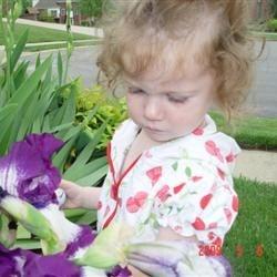 She likes flowers too!