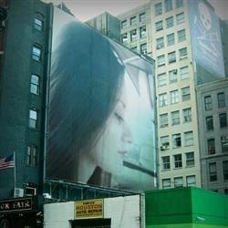 Leah On A Billboard