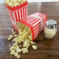 """Cauliflower Popcorn Recipe - Make this quick and easy recipe for cauliflower """"popcorn"""" as a kid-pleasing after school snack."""