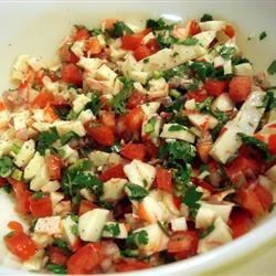 Crab Ceviche Recipe - This has always been a crowd pleaser in my home. This is wonderful as an appetizer served on tostadas or even with tortilla chips. Make sure to refrigerate before you serve, it tastes best when very cold. I like to serve on tostadas with a thin layer of mayonnaise for a nice refreshing lunch.