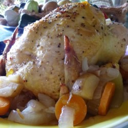 Perfect Roast Chicken Recipe - Prepare the best roast chicken every time with just a mixture of herbs and margarine rubbed onto the skin of a whole chicken. Ready in just 2 hours.