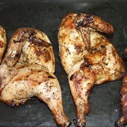 Grilled Cornish Game Hens Recipe - A piquant marinade makes elegant Cornish game hens a treat to grill.