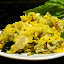 Warm Rice, Artichoke, Spinach, and Chicken Salad Photos - Allrecipes ...