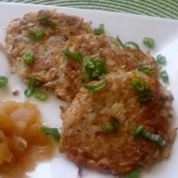 Bramboracky (Czech Savory Potato Pancakes) Recipe - These fried potato pancakes are best accompanied by beer. You can adjust the seasonings and add other ingredients to your liking.