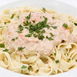 Pasta with Creamy Smoked Salmon and Dill Recipe - A creamy smoked salmon and dill sauce will dress up your favorite pasta.