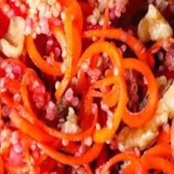 Carrot Citrus Salad Recipe - Marinated carrots, jicama, and orange make a light and fresh-tasting salad.