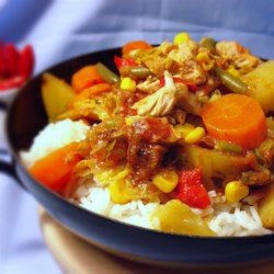 Slow Cooker Belgian Chicken Booyah Recipe - This chicken stew recipe with loads of vegetables is scaled from a big-batch recipe intended originally to feed the folks at church picnics of northeastern Wisconsin.