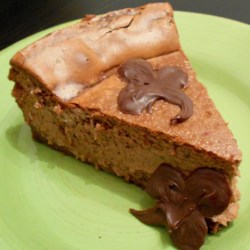 Guinness(R) and Chocolate Cheesecake Recipe - This rich chocolate cheesecake is accented with everyone's favorite Irish stout beer: Guinness. The recipe even includes instructions for decorating with chocolate clovers.