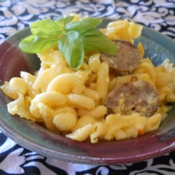 Naunie's Pastera (Leftover Easter Pasta Bake) Recipe - Don't toss those little amounts of small, uncooked pasta shapes; keep them and make this Italian-style sausage and egg dish when you've saved up a pound. Great for Easter.