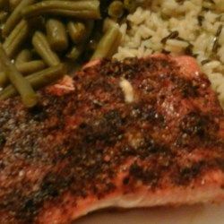 Honey Steelhead Trout Recipe - Steelhead trout is flavored with honey, mesquite seasoning, and pepper for a quick and easy meal for weeknights.