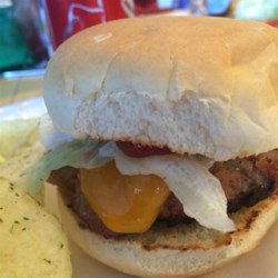 Lea's Hamburgers Recipe - One of my family's favorites. They are made with bacon bits and seasonings and taste especially good when cooked on the grill.