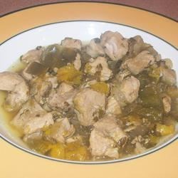 Bianca's Green Chile Pork Recipe - This recipe is a family favorite. Passed down from mother to daughter. Serve this spicy pork in warm tortillas with rice and beans. Top with sour cream, green onion and serve with lime wedges for a delicious Mexican meal.