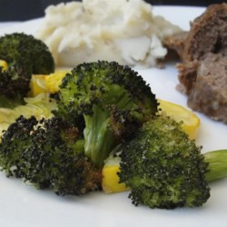 Garlic Roasted Broccoli Recipe - Oven-roasting broccoli with garlic makes a quick and easy side dish for an alternate preparation of the family favorite vegetable.