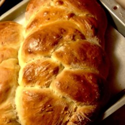 Polish Egg Bread Recipe - This sweet braided bread is rich with butter and eggs. The recipe makes 6 loaves.