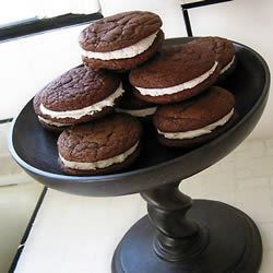Chocolate Sandwich Cookies II Recipe - These EASY to make cookies are absolutely fantastic.  Moist and chewy - can't stop at one, or two,..... ...