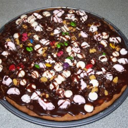 Chocolate Cookie Pizza Recipe - A favorite with children of all ages. Use your imagination with the toppings!