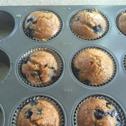 Paleo Blueberry Lemon Muffins Recipe - Paleo blueberry and lemon muffins with a coconut lemon glaze are a hearty way to start the day, a grain-free way!