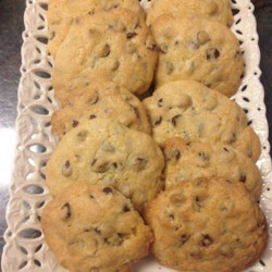 Passover Chocolate Chip Cookies Recipe - These chocolate-chip cookies are made with matzo cake meal, so they're a perfect way to end your Passover dinner.