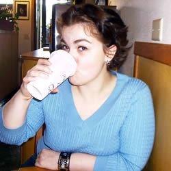 Jessie Drinking Coffee