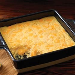 VELVEETA(R) Cheesy Baked Grits Recipe - These creamy grits are baked with lots of cheese--a great addition to a hearty breakfast or brunch buffet.