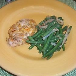 Zippy Orange Rosemary Chicken w/ Garlic Green Beans