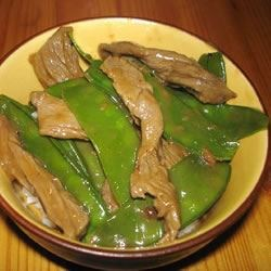 Asian Beef w Snow Peas