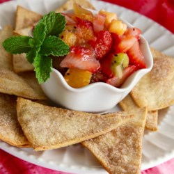 Simple Strawberry Salsa Recipe - Take your fresh strawberries beyond strawberry jam and into this fruit salsa with pineapple, orange, and kiwi.
