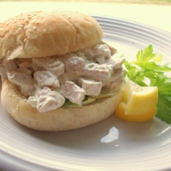 Basic Chicken Salad Recipe - Sometimes the best approach is the simplest one, as in this mix of chicken, mayonnaise, almonds and celery. Use herbed chicken for extra flavor.