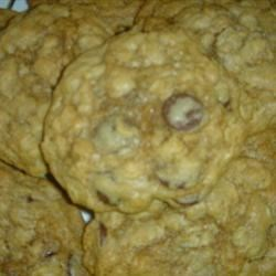Chocolate Chip Oatmeal Cookies Recipe - To make bar cookies out of this recipe, press dough onto bottom of ungreased 13 X 9 inch baking pan.  Bake 30-35 minutes.