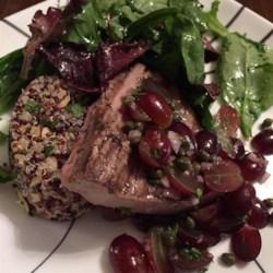 Grilled Tuna Steaks with Grape and Caper Salsa Photos - Allrecipes.com