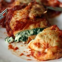 Spinach Enchiladas Recipe and Video - If you like spinach and Mexican food, you'll love these easy vegetarian enchiladas made with ricotta cheese and spinach.