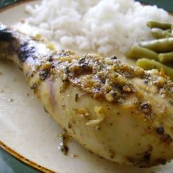 Mediterranean Lemon Chicken Recipe -  Lemon and garlic are practically emblematic of the sunny Mediterranean, and this dish offers them with oregano in a delightful basting sauce for baked chicken.