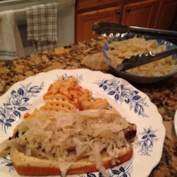 Homemade Sauerkraut Recipe - Homemade sauerkraut can be a quick-and-easy side dish using 9 simple ingredients. It pairs perfectly with kielbasa.