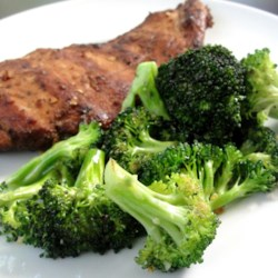 Fried Broccoli Recipe - Pan-fried broccoli is seasoned with salt and crushed red pepper in this quick and simple side dish idea.