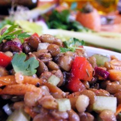 Summer Lentil Salad Recipe - This fresh lentil salad is great all year round, but is especially refreshing during the summer.