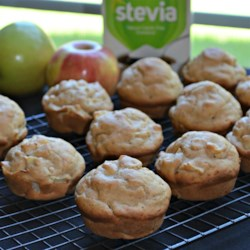 Diabetic-Friendly Apple Muffins Recipe - This muffin recipe uses stevia sugar substitute, skim milk, and reduced-calorie margarine to help make a healthier apple muffin.