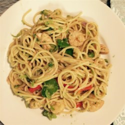 Chicken Lo Mein with Broccoli Recipe - Marinated chicken breasts are stir-fried with carrots, broccoli, celery, and onion. Spaghetti noodles get added at the end to make this dish a complete meal.
