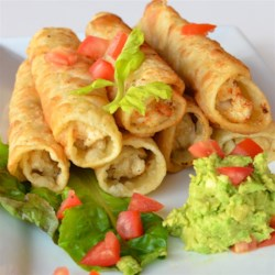 Easy Chicken Flautas Recipe - Chicken flautas, also known as rolled tacos, are tortillas filled with seasoned chicken and deep-fried for a tasty Mexican-inspired appetizer or meal.
