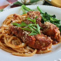 Italian Country Style Ribs Recipe - Country style ribs smothered in hearty stewed tomatoes are easy to make when you use a jar of pasta sauce! Liven things up with some sliced mushrooms or peppers. Serve over noodles and you've got a deliciously rustic meal.