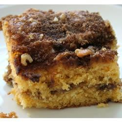 Cinnamon Coffee Cake II Recipe - Tastes great for breakfast, brunch or dessert. May also be made in a Bundt pan.
