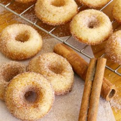 Baked Mini Doughnuts Recipe - Mini doughnuts that are baked and coated in cinnamon and sugar are a lighter and equally delicious version of doughnuts without the frying!