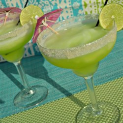 Frozen Melon Margaritas Recipe - Frozen melon margaritas are a refreshing blend of tart and sweet, perfect for hot summer days.