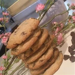 Chocolate Chip Coffee Cookies Recipe - Milk chocolate chip cookies flavored with coffee liqueur and cinnamon.